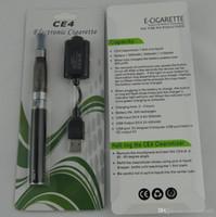 Wholesale Ecigarettes Kits - Electronic Cigarette eGo-T CE4 blister pack kits with ecigarettes 1100mAH ego T battery ce4 Vaporizer Atomizer tank vape pens starter kits
