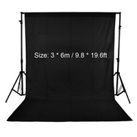 Wholesale Green Fabric Background - Freeshipping 3 * 6m   9.8 * 19.6ft Nonwoven Fabric Photo Backdrop Background Screen Photography Studio Backdrop White Black Green(optional)