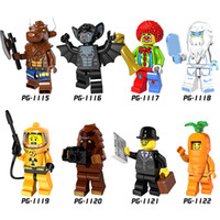Compra Vampire Pipistrelli-Pump Series Minifig Mix Lot Tauren Vampire Bat Joker Yeti Nuclear Workers POGO PG8087 Figure Mini Building Blocks Figure