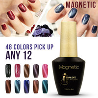 Wholesale Wholesale Nail Gel China - Brand Azure Stripe magnetic glue 12pcs China gel polish fashion trend color gel Nail polish 30 colors LED UV gel for choice