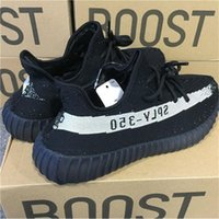 Wholesale Uk Women White Men - [With Original Box] BOOST 350 V2 By Kanye West Black Running Shoes Black Red Oreo High Quality Sport Shoes Sneakers 350V2 SPLY UK 3.5-12