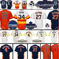 3dc267491 Baseball Men Short 2017 Champions  27 Jose Altuve 1 Carlos Correa 4 George  Springer jersey