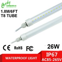 Wholesale Freezer Packaging - Waterproof LED T8 Tube Light for Outdoor Lighting ,Single End Wired Powered connection,IP67 for outdoor,cooler,freezer 10pcs of packaging...