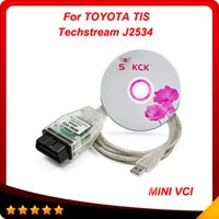 Wholesale Toyota Mini Vci Obd2 - 2015 Latest Version Toyota Tis Techstream MINI VCI OBD2 Diagnostic Tool single calbe In stock