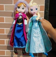 Wholesale Cheap Christmas Gifts Toy - 10pcs frozen doll 40cm 50cm elsa anna frozen toy plush doll action figures frozen dolls Cheap free shipping Christmas Gift 39202591140