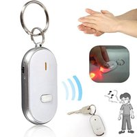 Новый Anti-Lost светодиодный ключ Finder Find Locator Keychain Whistle Beep Sound Control Torch