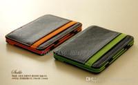 Wholesale South Korea Mens - 2014 South Korea magic wallet New Mens MAGIC MONEY clips for men purse orange & green size 10cm*7cm*0.8cm A3