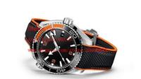 relógios mens 52mm venda por atacado-Fornecedor de fábrica Relógios De Pulso 52mm Planeta Oceano Co-Axial 600 M 215.32.44.21.01.001 Mens Mecânica Automática Assistir Relógios
