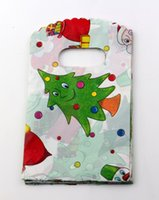 Wholesale Christmas Tree Plastic Bags - Hotl ! Christmas Gift Bag . 100 Pcs Christmas tree Plastic Bags Jewelry Gift Bag 9x15cm
