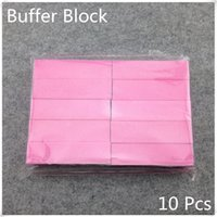 Wholesale Pink Sanding Buffer - Wholesale-20 Pieces Pink Buffer Block Acrylic Nail Art Care Tips Sanding Files Tool Wholesale 4 Ways Shine High Quality