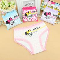 Wholesale Cute Underwear For Baby Girls - Children baby underwear shorts kids briefs Minnie Mouse panties kids underwear for 2-10ages girls cute kids underwear for girls 100% cartoon