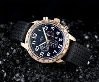 balck watch toptan satış-Lüks Erkek kuvars chronograph kol saati altın durumda balck Kauçuk saatler erkekler için 544