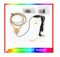 Wholesale Earbud Spy - 2015 New High Quality Full sets covert wireless spy Earpiece With Loopset Neckloop 2x batteries GSM Earphone Earbud External MIC