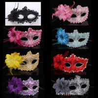 Wholesale half skulls - Masquerade man and women half face mask halloween party mask sexy venetian masks 8 color can choose