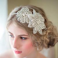 Wholesale New Trendy Ornaments - New 2018 Sweet Princess Bride Headdress European High-end Handmade Rhinestone Diamond Flower Ornaments Bridal Headband Wedding Headpieces