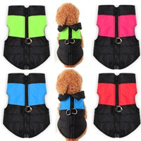 Inverno Pet Dog Coat Jacket Vest Vestuário Moda colorida Waterproof Snowsuit Clothes Fit Puppy Chihuahua Pets Dog Clothing