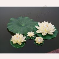 10 cm de diâmetro Artificial Lotus Flower Pool Water Fish Tank Decor Plantas Artesanato for Wedding Party a decoração Home 6 cores