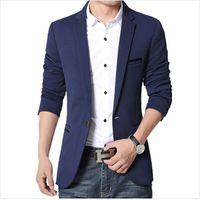 blazer professional toptan satış-Toptan-2016 Yaz Tarzı Lüks İş Casual Suit Erkekler Blazers Set Profesyonel Resmi Gelinlik Güzel Tasarım Artı Boyutu M-5XL