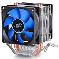 mini ventilador cpu al por mayor-DEEPCOOL dos ventiladores de 8 cm enfriador eólico de CPU ICE EDGE MINI FS DUAL BLADES para multiplataforma AM2 / AM2 + / AM3 / LGA775 / 1155/1156/1150