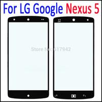 ingrosso bar google nero-Vetro di ricambio per schermo esterno per LG Google Nexus5 Vetro di ricambio per schermo nero per LG Nexus 5 D820 D821