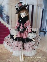 Wholesale Make Sexy Doll - Wholesale-Free shipping 2015 NEW 1 3 1 4 full hand made doll clothes sexy Court dress   wedding dress for BJD SD doll body