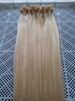 "Wholesale Indian Remy Hair Free Shipping - 100g 1g s Indian remy Nail U tip hair extensions 20"" 22"" 24"" 60# platinum blonde DHL free shipping"