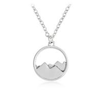 encantos de montaña al por mayor-Al por mayor-QIHE JEWELRY Dainty Mountain Top colgante Cordillera Montaña Collar de la naturaleza Naturaleza Regalo de la joyería para excursionista
