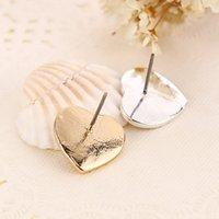 Wholesale Love Tone - Tone Logo earrings Heart love Crystal earings Fashion jewelry brand jewellery for women bride Silver Gold Rose Gold