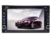 Wholesale Double Din Touch Screen Navigation - New front big USB universal Car Radio Double 2 dodin 6.2 inch car DVD player gps navigation BLUETOOTH RADIO PLAYER FREE shipping+map+camera