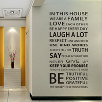 English Proverbs Wall Sticker Family House Rules Adesivos de parede Decal Removable Decor Home Kids Great Gift Wallpapers