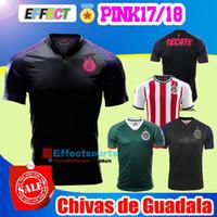 Wholesale Chivas Soccer - New Arrived 17 18 Chivas de Guadalajara Limited Edition Pink Football Shirt classic 2017 2018 camisetas de futebol A.PULIDO Soccer Jersey