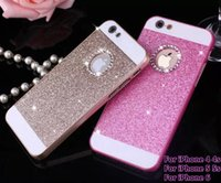 Wholesale iphone 4s glitter phone case online – custom New Bling Bling Case Fashion For apple iphone s s s Shinning Case Glitter Protector Cell Phone Back Cover