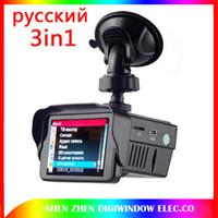 Wholesale Traffic Dvr Recorder - new Russian version 3in1 HD tachograph Traffic warning device GPS Tracker Radar Detector Car DVR Camera dvr recorder