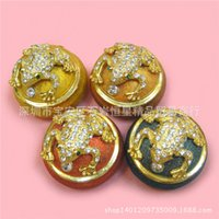 Wholesale Home Furnishings Office - Grade metal craft creative gifts home decorations ornaments diamond frog box office furnishings birthday gift