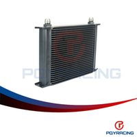 Wholesale Oil Cooler Row - PQY STORE-BLACK 28 ROW AN-10AN UNIVERSAL ENGINE TRANSMISSION OIL COOLER