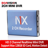 Wholesale Mini Hd Dvr Channel - New Syle hd 2ch Mini DVR Home car Used 2 channel DVR Motion Detect With 2 Cameras Working Simultaneously Support 128gb SD Card