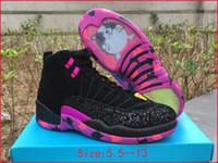 Wholesale Mens Ski Boots 12 - mens air retro 12 doernbecher black db AH6987-023 men boy basketball shoes freestyle 12s womens luxury running shoes women sports sneakers