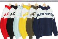 Wholesale Vintage Letter Blocks - 017 17FW Blocked Hooded hoodies cotton Sweatshirt Big letter star style Men's Slim Personalized hat Design Hoodies Sweatshirts Jacket