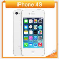 iphone 64gb kilidi toptan satış-Yenilenmiş Orjinal Apple iPhone 4S cep telefonu 3.5 '' Ekran 8MP Kamera 3G WIFI GPS 16GB 32GB 64GB Unlocked Cep telefonu