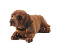 ingrosso bobble testa bambole-Auto giocattolo testa cane cruscotto Dashboard bambola auto agitazione testa ornamenti giocattolo cane annuendo auto arredamento arredamento regalo