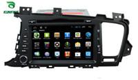 coche dvd gps kia al por mayor-Quad Core 1024 * 600 Pantalla HD Reproductor de navegación GPS con DVD para automóvil 5.1 para KIA K5 / OPTIMA 2011-2013 Radio Bluetooth Control del volante 3G