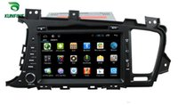 Wholesale Dvd For Kia Optima - Quad Core 1024*600 HD Screen Android 5.1 Car DVD GPS Navigation Player for KIA K5 OPTIMA 2011-2013 Radio Bluetooth 3G steering wheel control