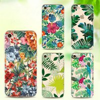 Wholesale Silicon Pattern - Phone Cases for Apple Iphone 7 6S 6 8 Plus SE X Diverse palm leaf pattern Soft Silicon TPU Case Cover for samsung S8 S8PLUS