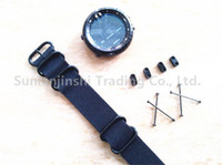 Para Suunto Core Watch Band Negro 24MM Tactical Nylon Nato Zulu 5-Ring Correa + Adaptadores + Lugs Envío Gratis - 069