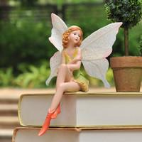 ingrosso miniature d'epoca-Smallsweet Resina Pastorale Fata Figurine Miniature Home Decoration Accessori Vintage Home Decor Fairy Garden Miniature