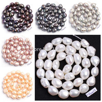 """Wholesale Wholesale Loose Pearl Strands - Wholesale-Free Shipping Natural 6 Color 9-10mm multicolor Freshwater Pearl Irregular Shape Loose Beads Strand 15"""" Jewellery Making wj89"""