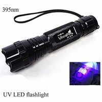 Ultraviolet flash Lampe torche Lantern Portable Linternas argent Stain Détecteur de 3W WF-501B CREE UV LED Flashlight Light Purple UV