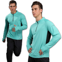 Mens Quick Dry Lauf Langarm-Shirt Jogging Fitness Training Bike Radtrikot Outdoor T-Shirt Kleidung Gym Fitness Sport Top