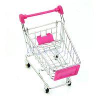 supermarket shopping cart toy 2018 - Wholesale- Mini New Supermarket Handcart Shopping Utility Cart Mode Storage Toy Red