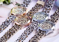 Wholesale Geneva Watches Silicone Band - 2015 fashion classic leopard print watch ladies jelly analog girl wristwatch Geneva Dress quartz women men silicone band dress watches